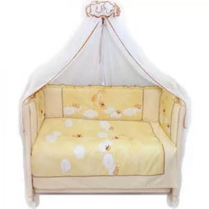 Комплект в кроватку Bombus Лунный Мишка 7пр 1513 бежевый