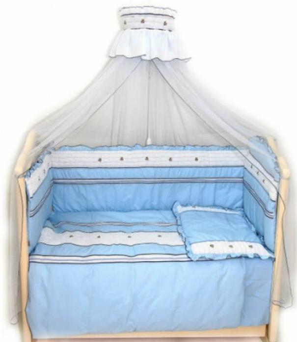 Комплект в кроватку Bombus Любавушка 7пр 1292 голубой