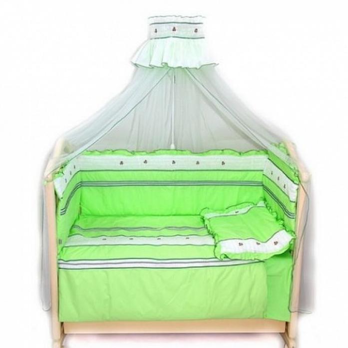 Комплект в кроватку Bombus Любавушка 7пр 1294 зеленый