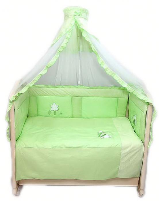Комплект в кроватку Bombus Светик 7пр 1404 зеленый