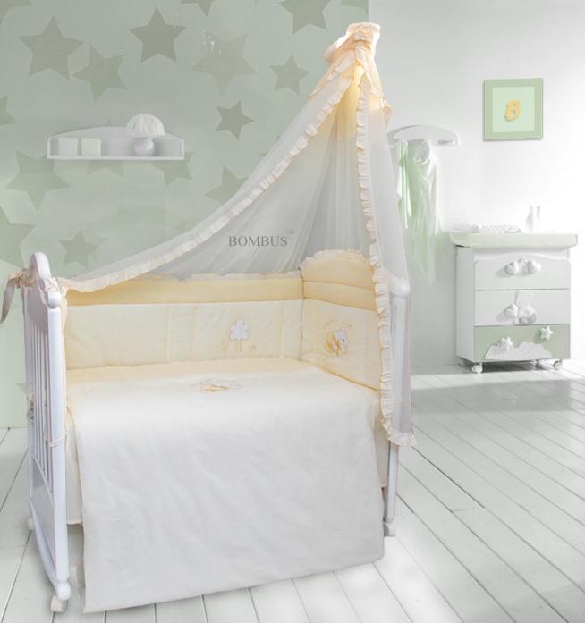 Комплект в кроватку Bombus Светик 7пр 1403 бежевый