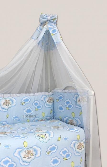 Комплект в кроватку Bombus Сладкий сон 7пр 1162 голубой
