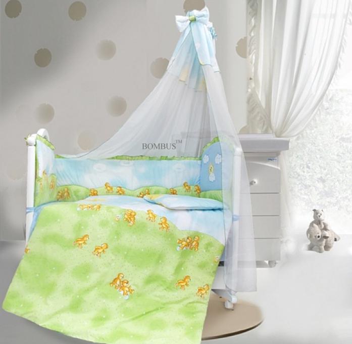 Комплект в кроватку Bombus Солнечный денек 7пр 1462 голубой