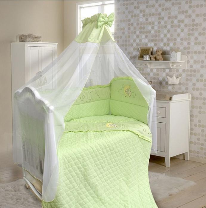 Комплект в кроватку Bombus Соня 6пр 1264 зеленый