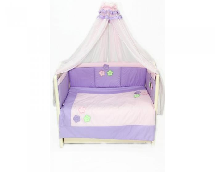 Комплект в кроватку Bombus Цветочек 7пр 1000 стандарт