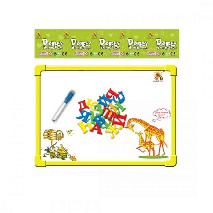 Доска для рисования Shantou Gepai Два жирафа с маркером и магнитными буквами 33 шт R8113-3