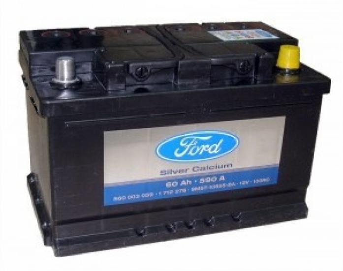 Аккумулятор FORD 60 А/ч обратная R+
