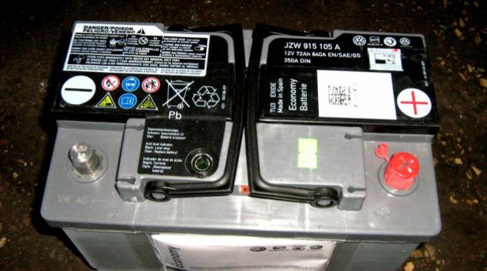 Аккумулятор Vag 72 А/ч обратная R+
