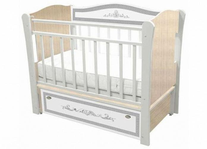 Кровать Влана КРДПР-102 Меандр (серебро) клен