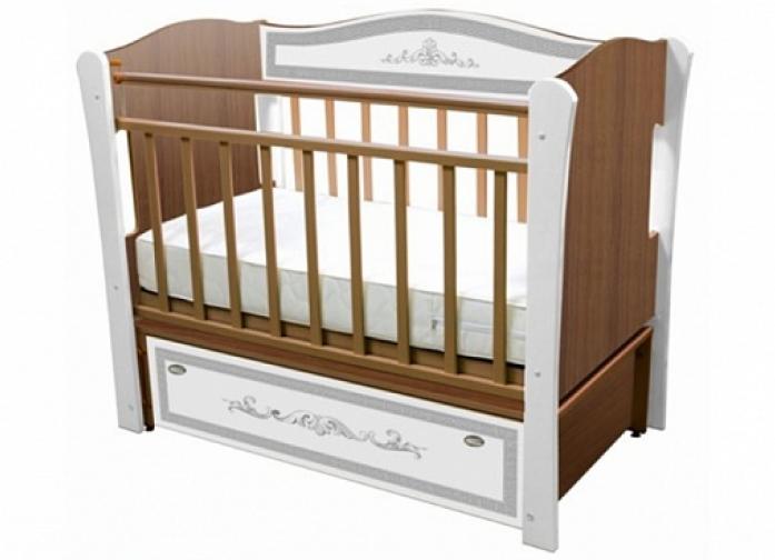 Кровать Влана КРДПР-102 Меандр (серебро) орех