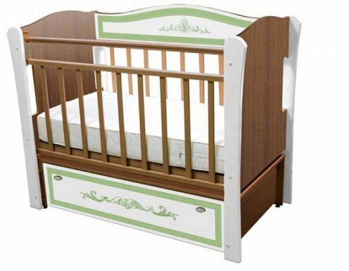 Кровать Влана КРДПР-102 Меандр (фисташка) орех
