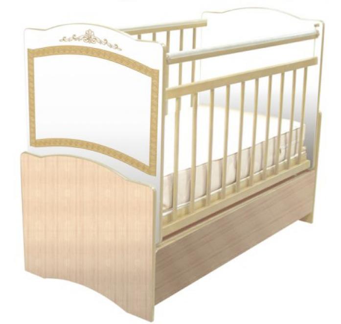 Кровать Влана КТДП-102 Меандр (золото) клен