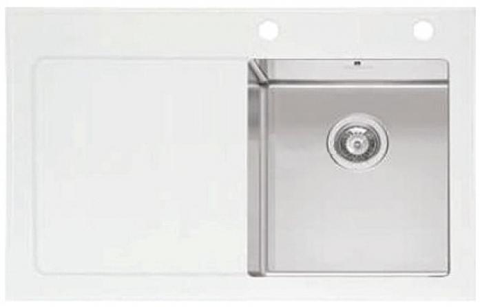 Кухонная мойка IMENZA Adventure 1B 1D (86х53) белая правая