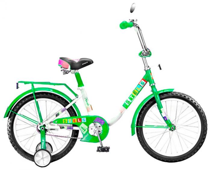 """Велосипед детский Stels Flash 16"""" зеленый/белый"""