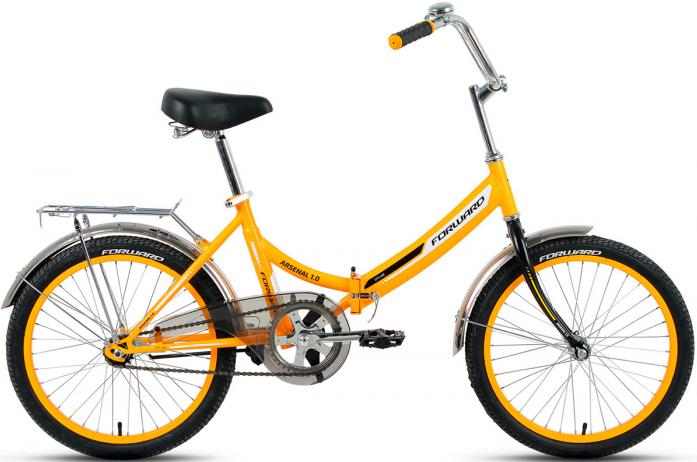 Велосипед Forward ARSENAL 1.0 2017 желтый