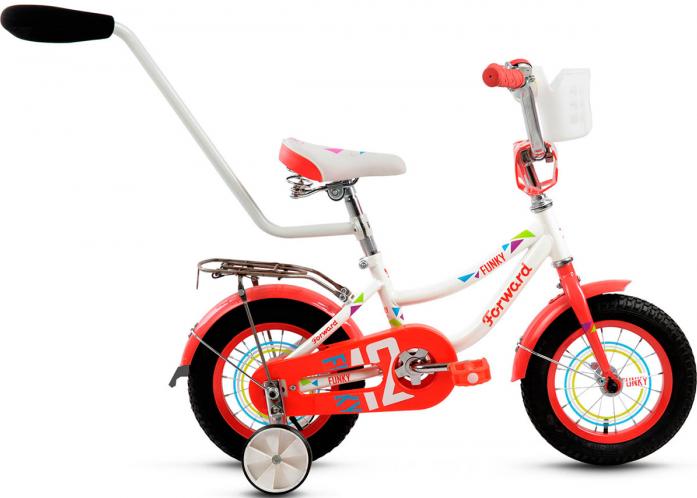 Велосипед Forward FUNKY 12 GIRL бело-красный