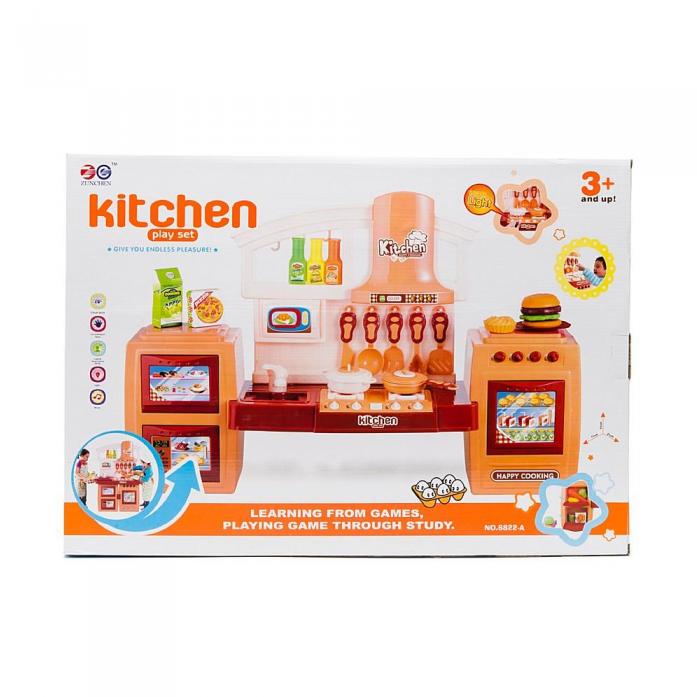 Игровой набор Shantou Gepai Кухня раскладная с набором посуды и продуктов 6822-A