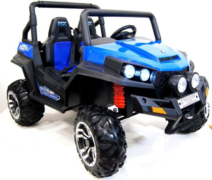 Детский электромобиль Rivertoys BUGGY T009TT (4*4)синий