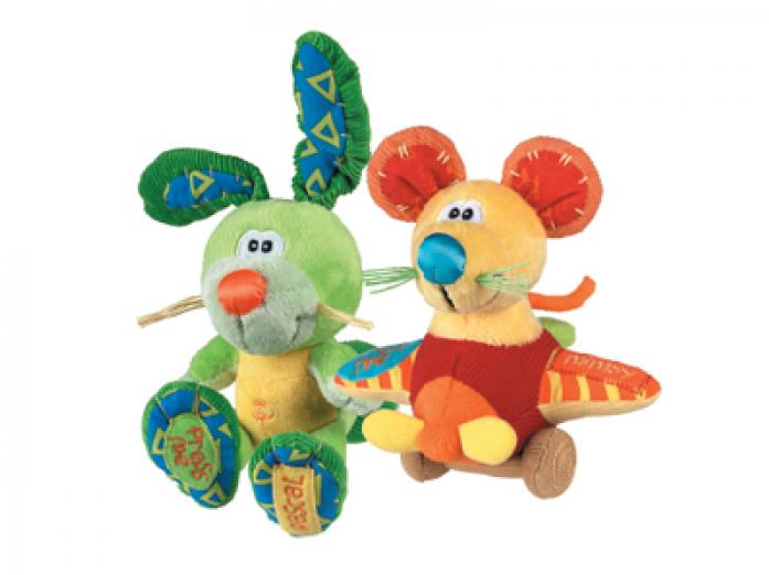 Игрушка Playgro 0101160 Мышка/Кролик мягкая музыкальная
