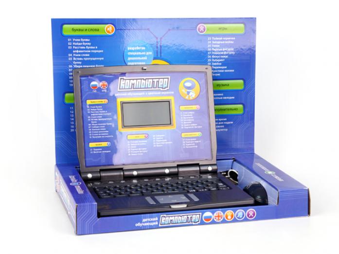 Компьютер Joy Toy 7160 обучающий русско-английский с мышкой и цветным дисплеем