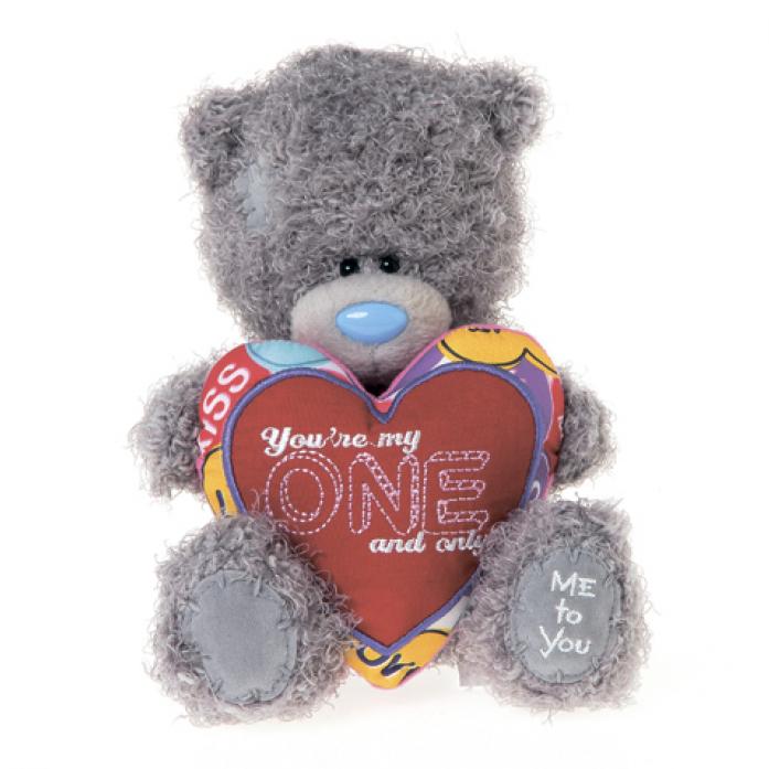 Игрушка Me to You Мишка G01W3354 Тедди 18 см с сердцем Ты только мой