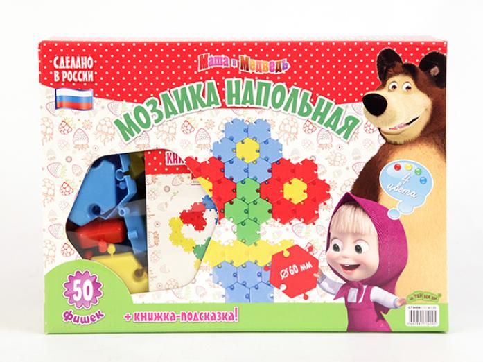Мозаика Маша и Медведь GT9006 Маша и Медведь напольная 50 эл.