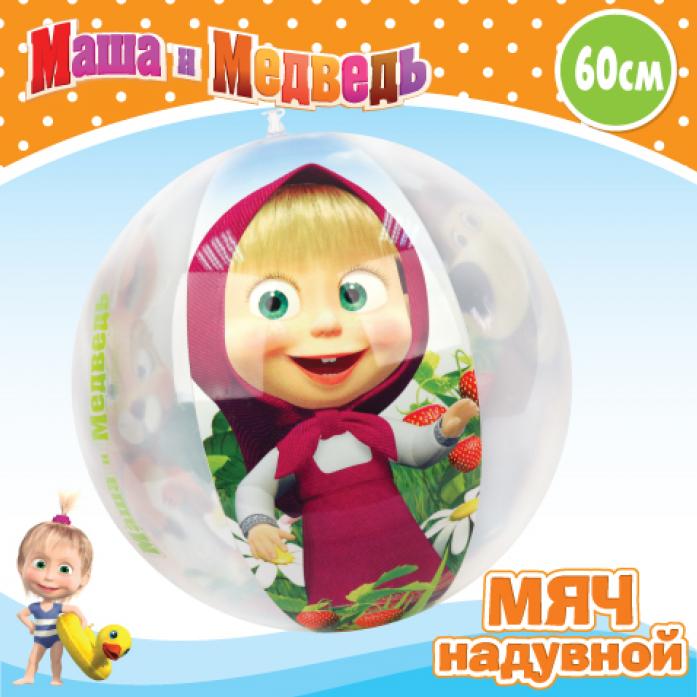 Мяч Маша и Медведь ПВХ GT8233 60см