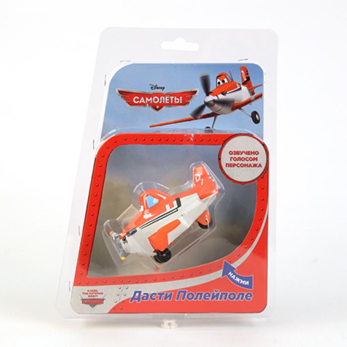 Игрушка Disney Пластизоль GT7647 Самолет Дасти со на колесиках в блистере