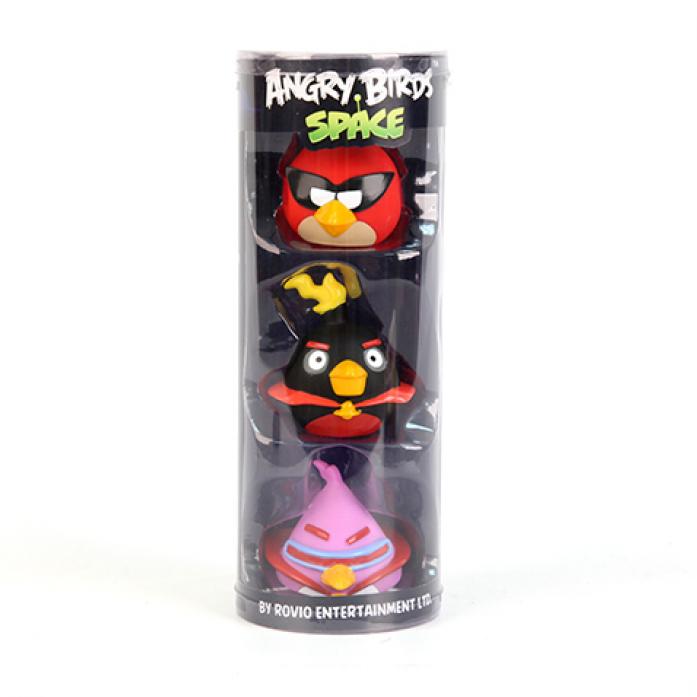 Игрушка Angry Birds Пластизоль GT7754 Злые Птички 3шт в тубе