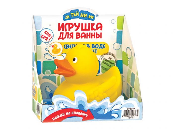 Игрушка Затейники Пластизоль GT8159 Утка со светом и