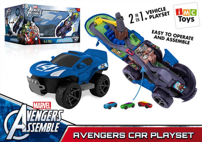 Трек Marvel 390164 Мстители с 3 машинками