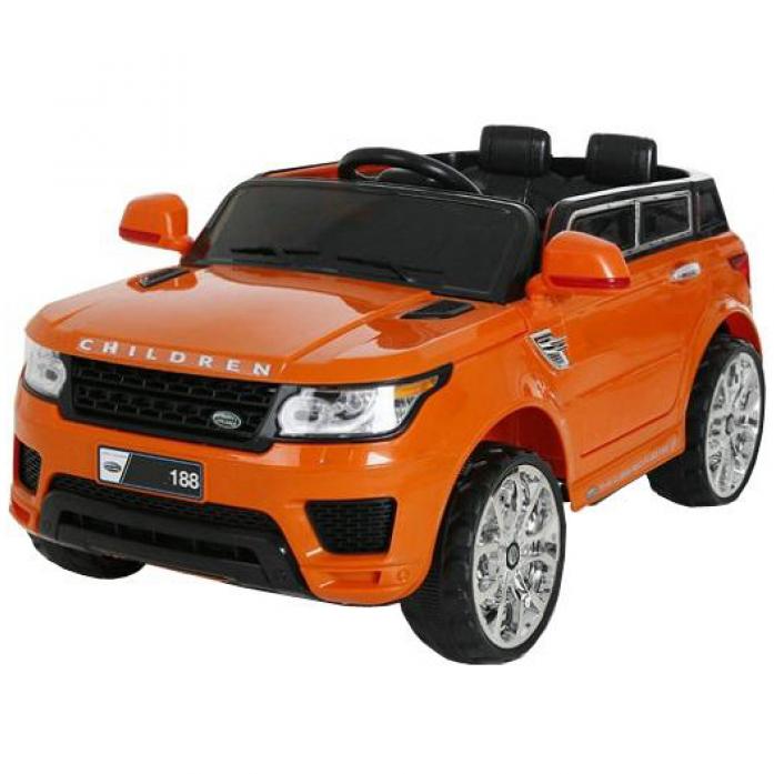 Электромобиль 1toy Лэнд Ровер оранжевый Т58719