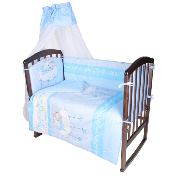 Комплект в кроватку Ifratti Ангелочек 7пр КВ-103 розовый