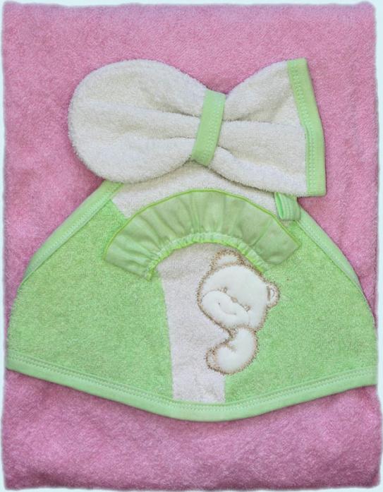 Полотенце Золотой Гусь Забавный мишка 324 розовый