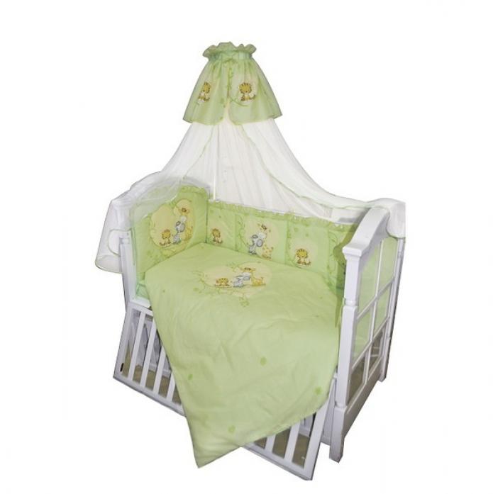 Комплект в кроватку Золотой Гусь Сафари 1214 зеленый 7пр