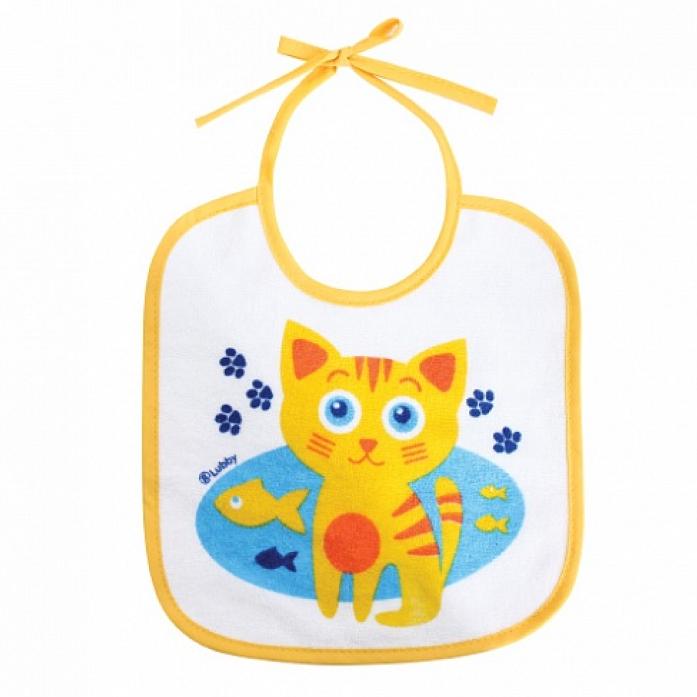 Слюнявчик на завязках Lubby В мире животных 14073 котенок