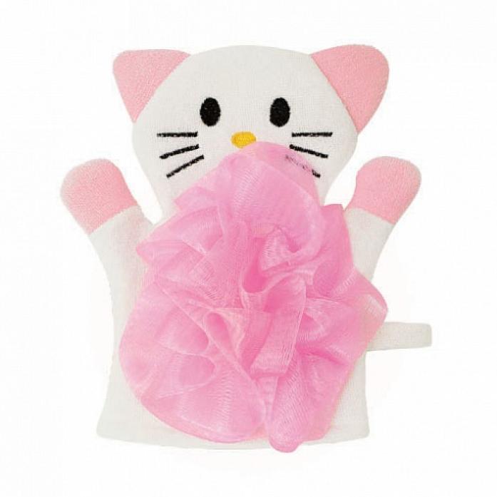 Мочалка Lubby Кошечка 15178 розовая