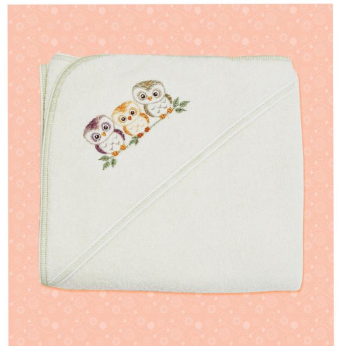 Полотенце Лео Совы 1570-5 молочный 80*85 см