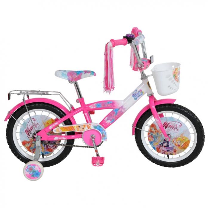Велосипед Navigator 16 WINX T1-тип розово/белый с корзиной