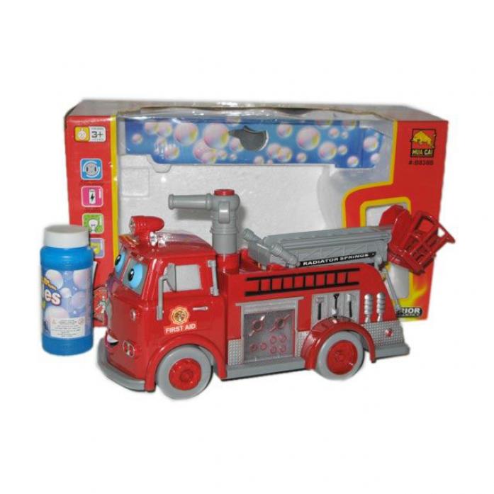 Машина для пускания мыльных пузырей 1toy Пожарная машина Т59666