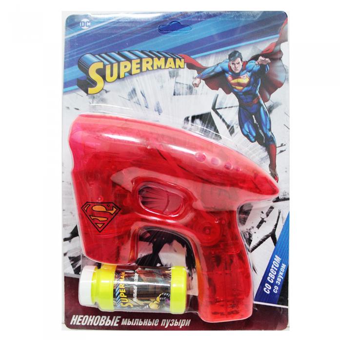 Пистолет для пускания мыльных пузырей 1toy Superman Т59656