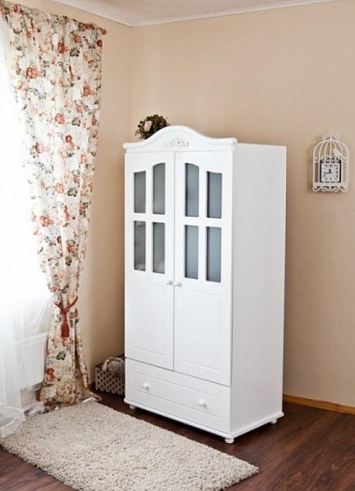 Шкаф детский Можга С536 (Пальметта) белый
