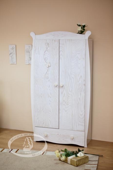 Шкаф детский Можга С538 (Бабочка)античный белый