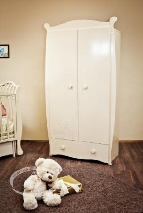 Шкаф детский Можга С538 (Кошка) слоновая кость