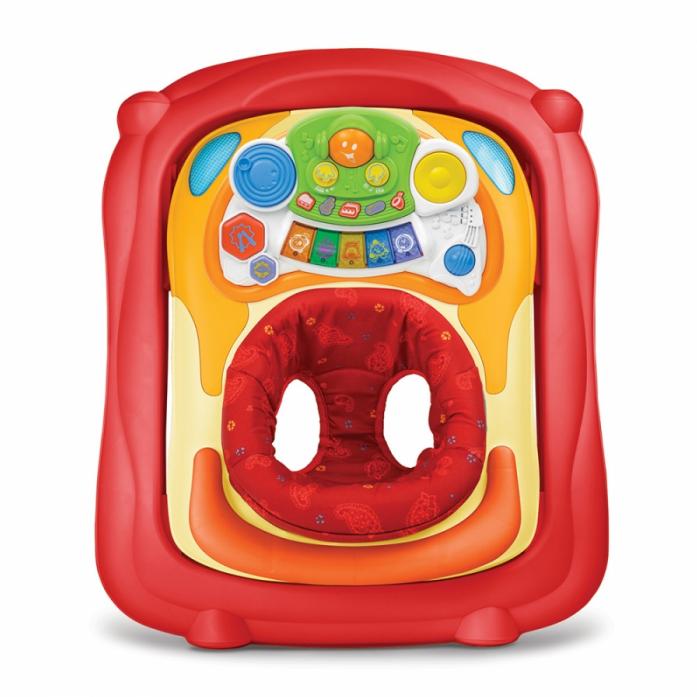 Ходунки Weina 2в1 с музыкальной игровой панелью Красный4007