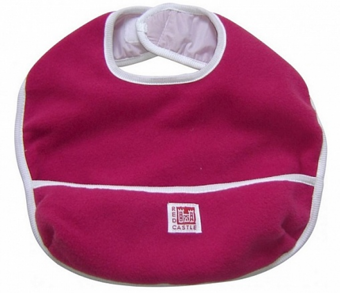 Детский нагрудник RED CASTLE FLEECE BIB S1 raspberry 30123