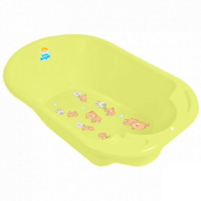 Ванночка детская Little Angel Дельфин с рисунком желтый 2904ЖТ