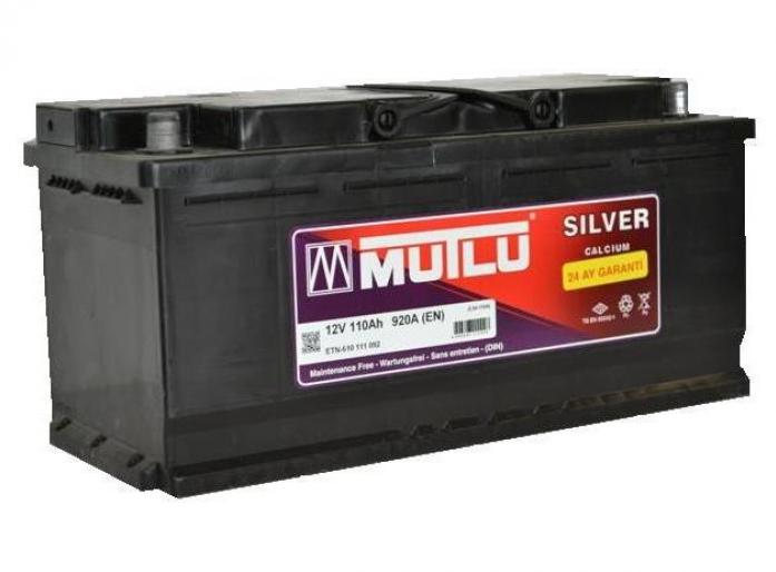 Аккумулятор Mutlu CALCIUM SILVER 110 А/ч обратная R+ LS6-110A L6.110.092. A