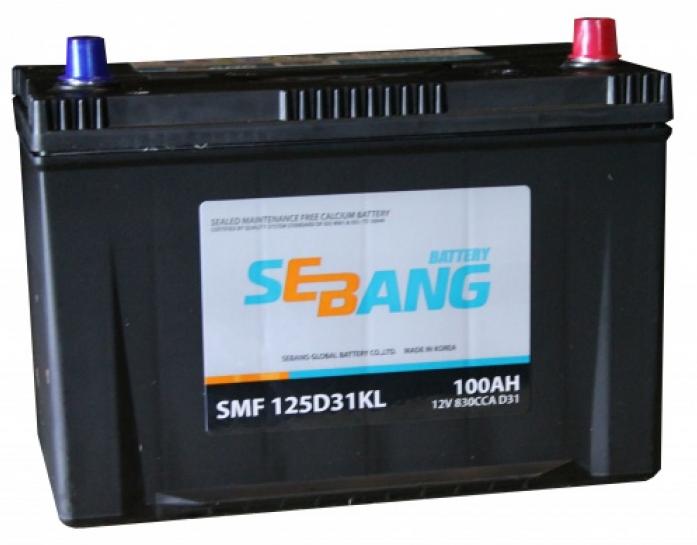 Аккумулятор Sebang SMF 100 А/ч обратная R+ 125D31KL