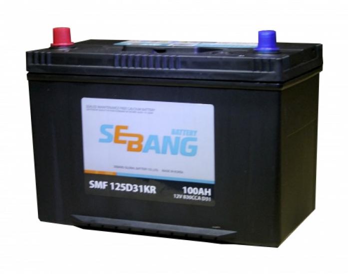 Аккумулятор Sebang SMF 100 А/ч прямая L+ EN 830A 125D31KR